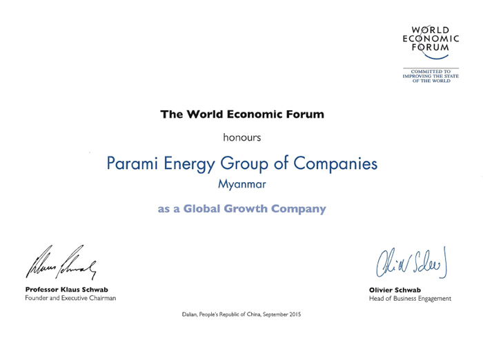 Parami Energy as Global Growth Company